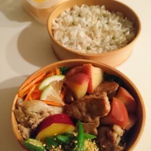 2020/10/26豚肉とりんごのビネガー煮弁当