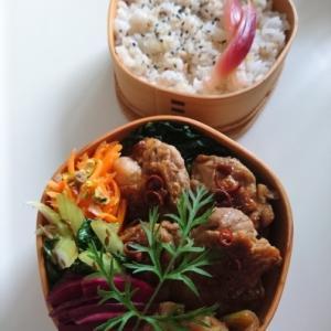 2021/6/21鶏肉とねぎの唐辛子炒め弁当