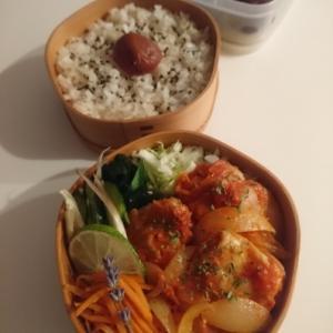2021/9/13鶏肉のトマト煮弁当