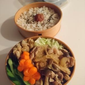 2021/9/24豚肉の生姜煮弁当