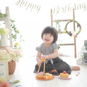 【バースデーフォト】2歳おめでとう♡おうちスタジオで楽しみながら撮影