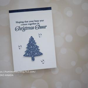 シンプルスタンピングでクリスマスカードを作りました。