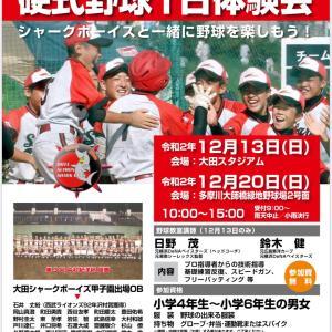 第22回硬式野球1日体験会のお知らせ