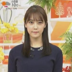 【女子アナのニット乳147】上野愛奈アナのスレンダークビレニット【はやドキ!】