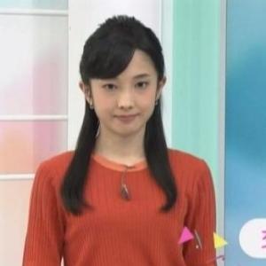 【女子アナのニット乳166】NHK林田理沙アナのスレンダーニット【おはよう日本】