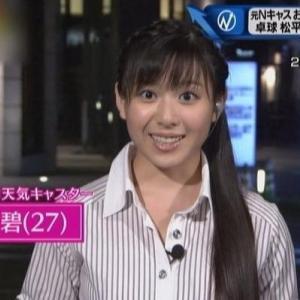 【元お天気キャスター】ムチムチ巨乳玉木碧(27)が卓球選手と結婚!【Nキャスの面白シーン!?】