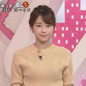 【女子アナのニット248】中川絵美里アナのスレンダークビレニット【おはよん!】