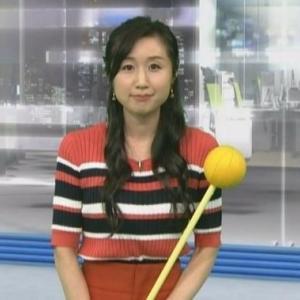 【気象予報士のニット㊷】平野有海さんのムチムチママさんクビレニット【ニュース7】