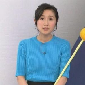 【気象予報士のニット㊹】平野有海さんのムチムチママさんクビレニット【ニュース7】