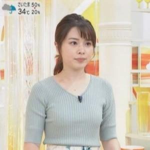 【女子アナのニット乳321】TBS皆川玲奈アナのムチムチクビレニット【はやドキ!】