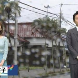 【気象予報士のニット乳㊿】奈良岡希実子さんのムチムチクビレニット【Nスタ】