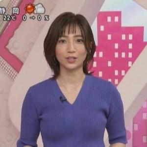 【女子アナのニット乳382】セントフォース内田敦子アナムチムチニットでクビレライン!【おはよん!】