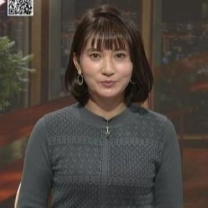 【女子アナのニット乳429】NHK井上あさひアナ夜のムチムチニット【ニュースきょう一日】