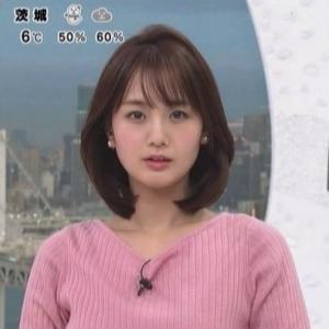 【女子アナのニット乳509】フジテレビ井上清華アナのクビレニット【めざましテレビ】