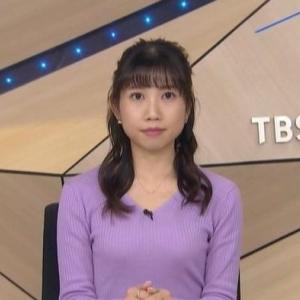【女子アナのニット乳513】黒田菜月アナのアラサースレンダーニット【TBSニュース】