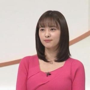 【女子アナのニット乳514】日テレ河出奈都美アナのムチムチクビレニット【news zero】
