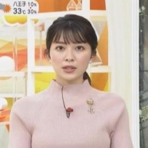 【女子アナのニット乳716】TBS山本里菜アナのムチムチクビレニット【はやドキ!】