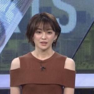 【女子アナのニット乳723】フジテレビ宮司愛海アナの肩出しアラサームチムチニット【S・PARK】