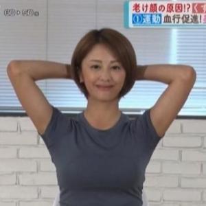 【なないろ日和】元アイドル河辺千恵子さんの美肌ピラティス【ムチムチ横乳】