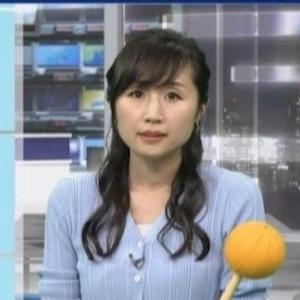 【気象予報士のニット乳74】平野有美さんのアラフォーママさんムチムチクビレニット【ニュース7】