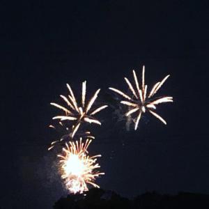 昨晩は花火大会でした。