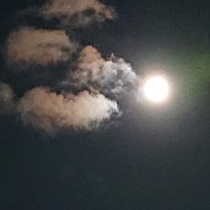 満月(バクムーン)と土星と木星☆
