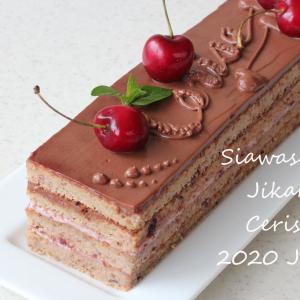 サクランボのケーキでレッスンスタート