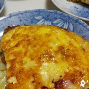 ハムとポテトのチーズオムレツ