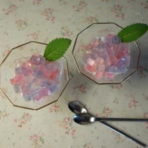 アイスも紫陽花 紫陽花寒天の作り方