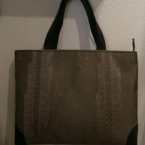 サンプルの帯バッグとジャンパースカート