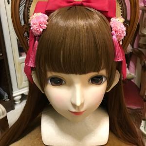 新しい和ロリのヘアセット 美少女マスク(むに面製)体験もできる変身写真サテライトドア