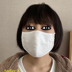 立体マスク作るときもトワル仮縫いです^^。