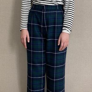 子供用の冬用パンツを作りました(サイズ160)