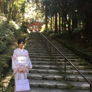 比叡山へ 。着物でお出かけが気持ちいい秋です❤️