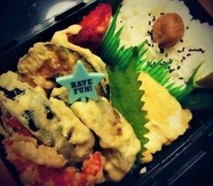 *ホクホクかぼちゃの天ぷら弁当♪