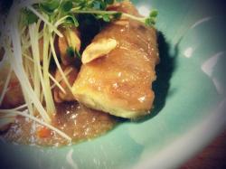 【まいにちゴハン】肉巻き豆腐のみぞれ煮。