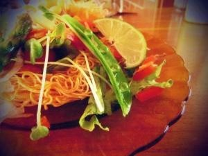 *節約・フライド素麺の春サラダ♪
