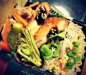 山菜弁当。