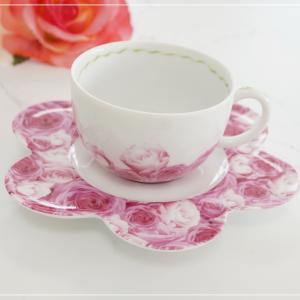 ☆ピンクのローズがとってもエレガントなカップ&ソーサー☆