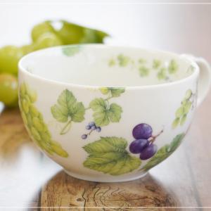 ☆葡萄たくさんのスープカップ☆