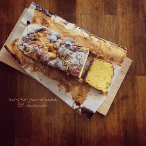 カボチャのパウンドケーキ
