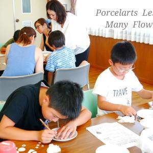 夏休み小学生ポーセラーツ教室を開催しました♪