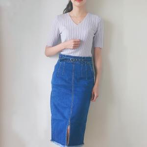 色違い購入したデニムスカート。シクセ購入品♪