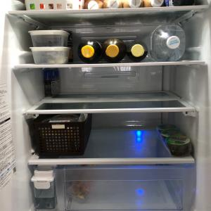 冷蔵庫がモノの見事に空っぽに