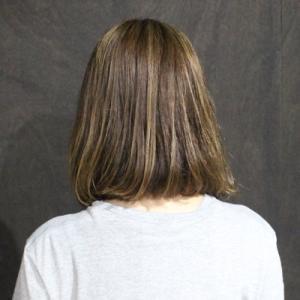 白髪をカバーしつつ明るめカラー