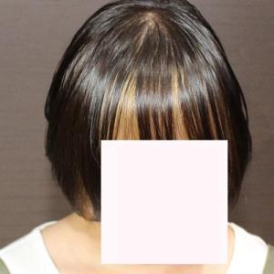 前髪カラーと暗めカラー