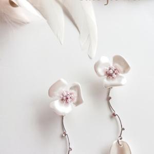 cute flower  マグネット式イヤリング