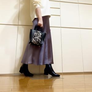 サテンスカートを綺麗めカジュアルに着てみる