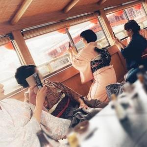 屋形船の着物美人!お写真の特集です!!