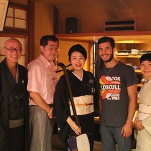 7月12日は、京都・祇園の日本酒と三味線・琵琶の宴です。